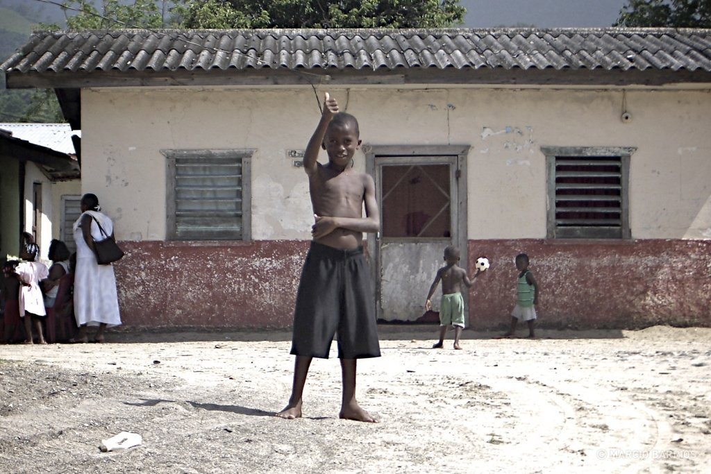 Corozal boy greeting