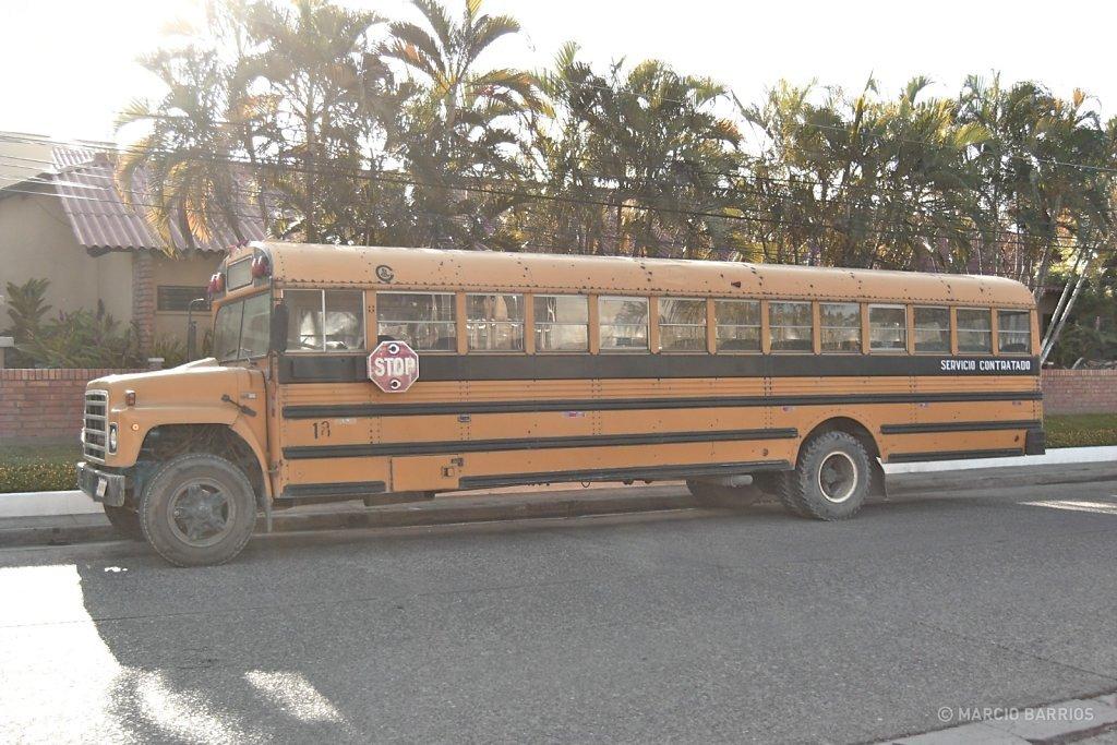 Typical bus of La Ceiba