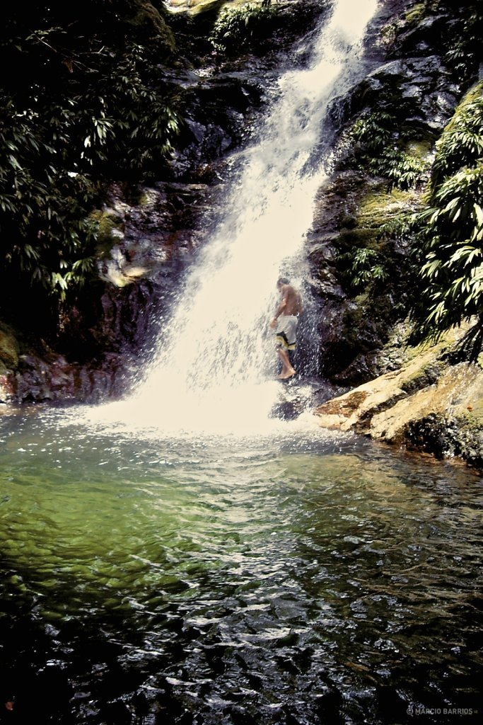 Small waterfall close to Cangrejal river