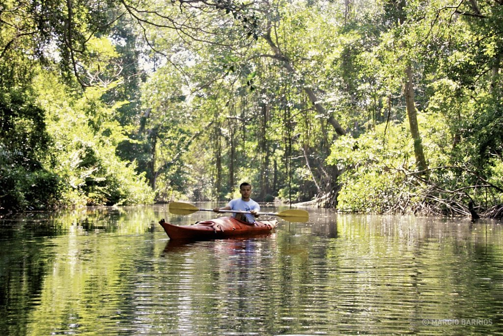 Kayaking in Cacao Lagoon