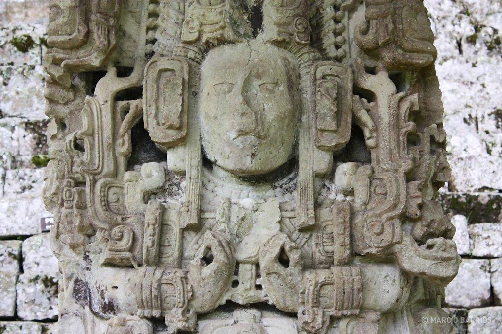 Stela N, depicting K'ak' Yipyaj Chan K'awiil