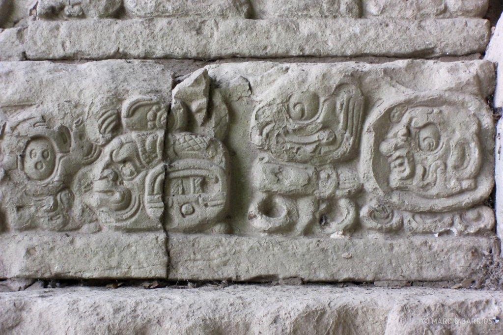 Hieroglyphic Stairway detail
