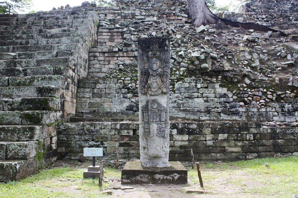 Stela P, depicting K'ak' Chan Yopaat