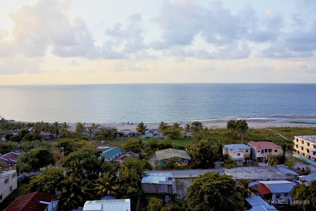 View of Tela and the Caribbean Sea
