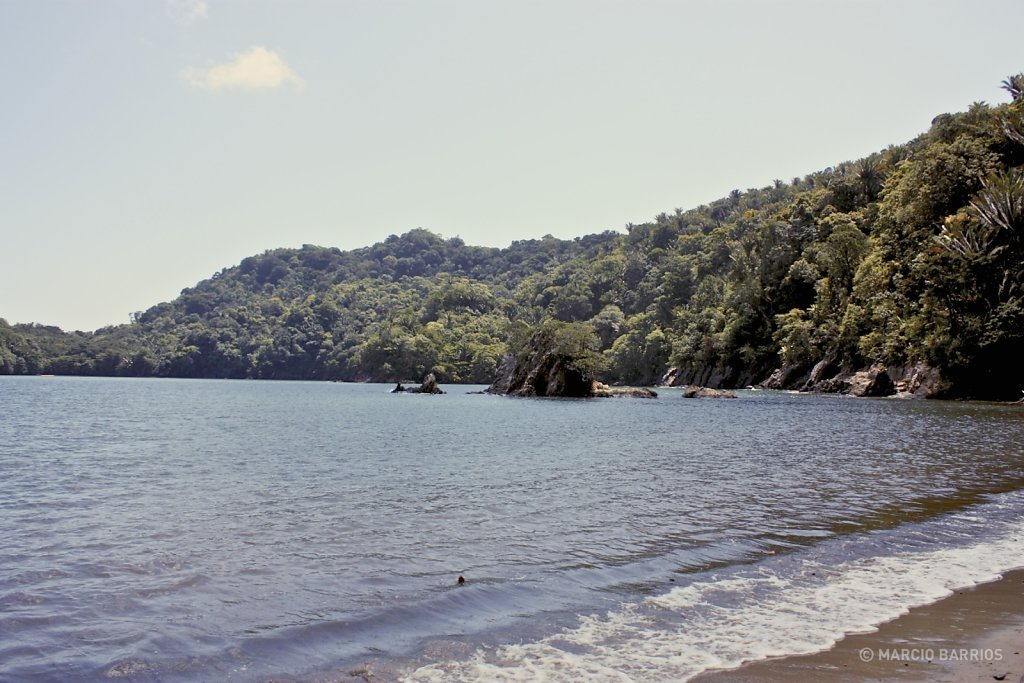 Unspoiled beach