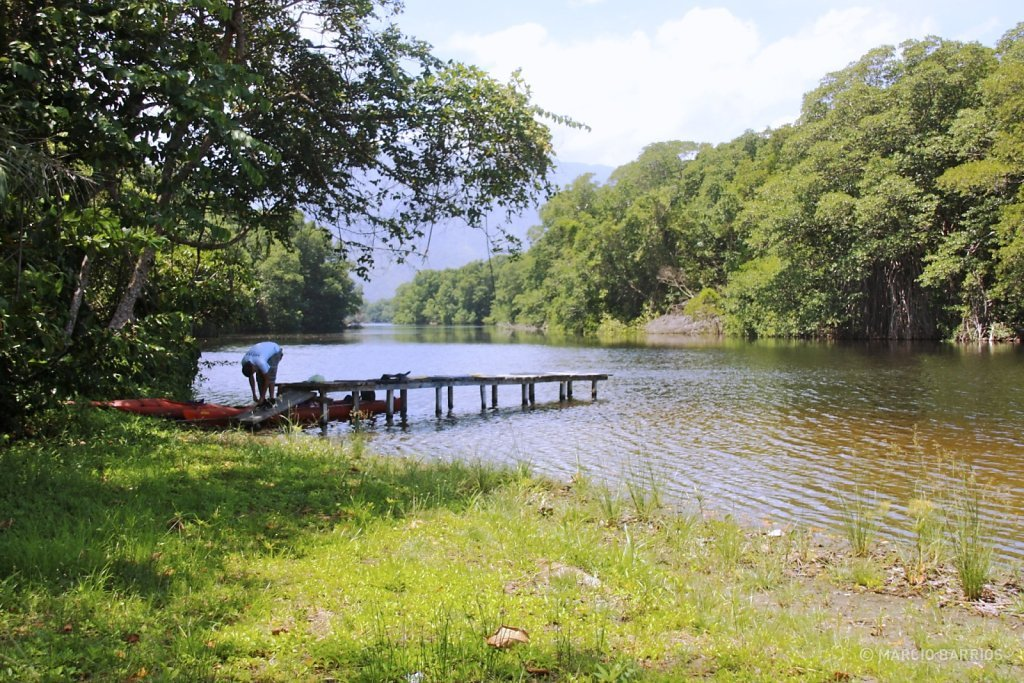 View of Cacao Lagoon close to the Caribbean Sea